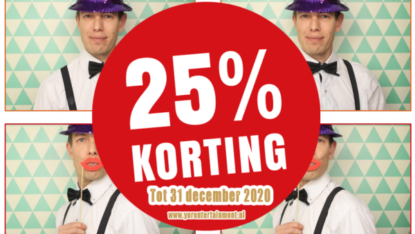 25% korting photobooth