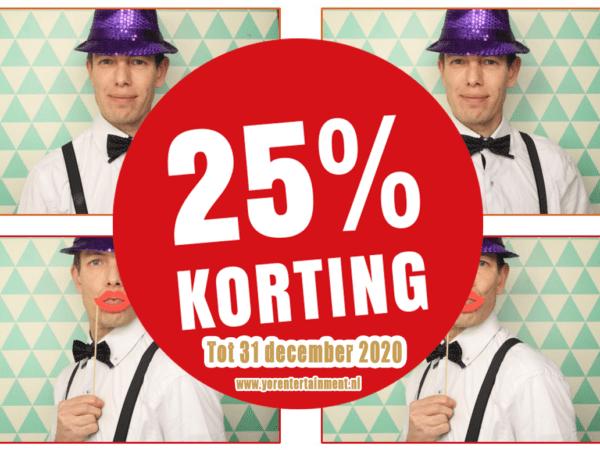 Photobooth met 25% korting